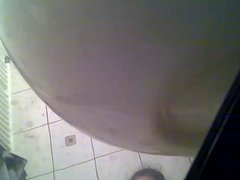 Hiden cam shower young girl
