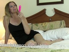 Lacy Has Some Fun with Her Pink Vibrator