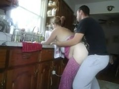 Fucked in kitchen. More on www.CuteSexyCams.com