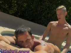 Tube boy twink sex Daddy Poolside Prick Loving
