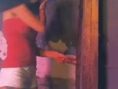 2 girls lock a guy up and share him through the hole