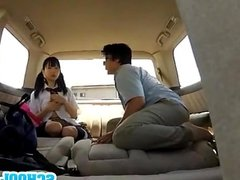 Of cute school girl car sex