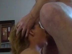 MILF gets throat and face fucked with CIM