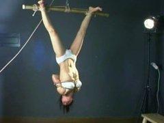Chinese girl in hard bondage