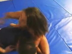 Jazz Topless Mixed Wrestling Part 1