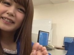 Jap OL gives guy a throbbing errection, with the smell of her sweaty feet