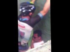 Cyclist Blowjob caught in the Toilet - D-u-d-e