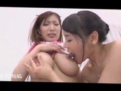 Japanese Lesbian Sucking Big Tits 6