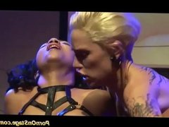 tattooed lesbian fisting live on stage