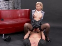 Mouth Fucked Euro Blonde
