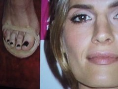 Masturbating to Stana Katie's Sexy Face and Feet