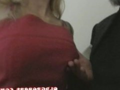 groping a young blond wife