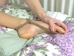 Amber Michaels naked spreadeagle tickling