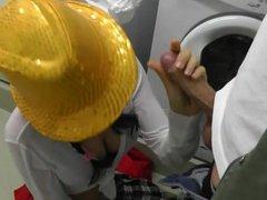 Sucking in the public lavatory