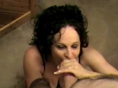 Good looking wife gives great blowjob to hubby