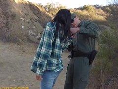 Hot latin babe gets fucked at the border