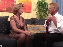 Grandma in Stockings FROM SEXDATEMILF.COM Hard Fucked by Grandpa with Facia