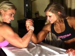 Female Bodybuilders Arm Wrestling Julia Fory and Ashley She Hulk