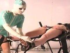 Brunette Slave Restrained Hard