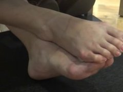 Feet Under Table (This Vid Will Be Private Soon Better Add Me)