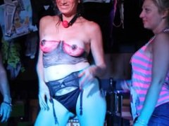 sluty girls nude and topless on stage public