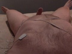 Nipple and Cock Estim Orgasm