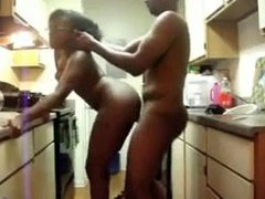 black amateurs from BlacksCrush.com kitchen fuck