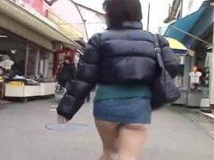 Ramu Ass Hanging Out of Skirt