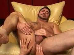 Verbal dad takes a stiff penis in his butt and loves it