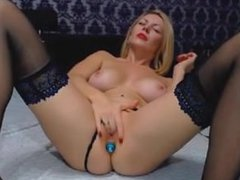 Blonde milf playing with her pussy on webcam- LiveWebcamss.com