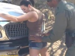 Hot latin babe fucked by the law officer