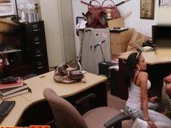 Latina pawnshop amateur facialized for money