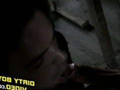 Ely and Brett have some dirty fun in an old building