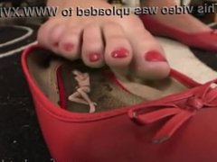 Mary Tortures HerTiny Foot slave - French Girls Feet