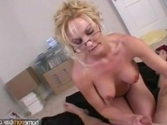 Handjob from blonde amateur milf in hot amateur porn 2