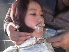 Chinese OL tight hogtied