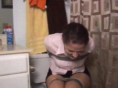 Caroline Pierce - bathroom taped