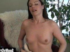 Hot MILF Samantha Humping The Armchair