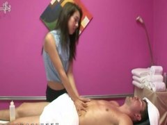 Mila Jade asian massage parlour handjob