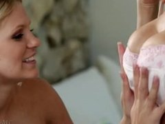 Big Tittied Milf And A Horny Teen