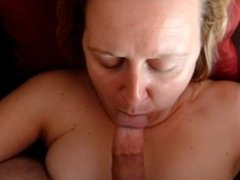 Wife Jayne Facial Too Much Cum