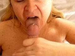 Wife Jayne Blowjob Swallow and Dripping Cum