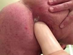 Gaping With Huge DIldo