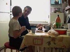 russian teen in kitchen