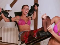 Czech Tickled Feet - Bad girl must be foot tickled