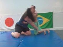 Tall Amazon Anya Destroy Athletic Man