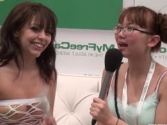 Artist PrincessZoe of MFC camgirls talks with Harriet Sugarcookie AVN 2015