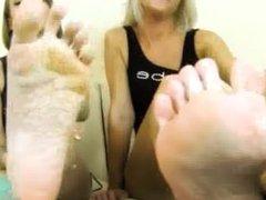 Paris & Sasha foot tease