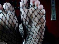 Fishnet Foot Worship