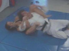 girls dominates guys wrestling